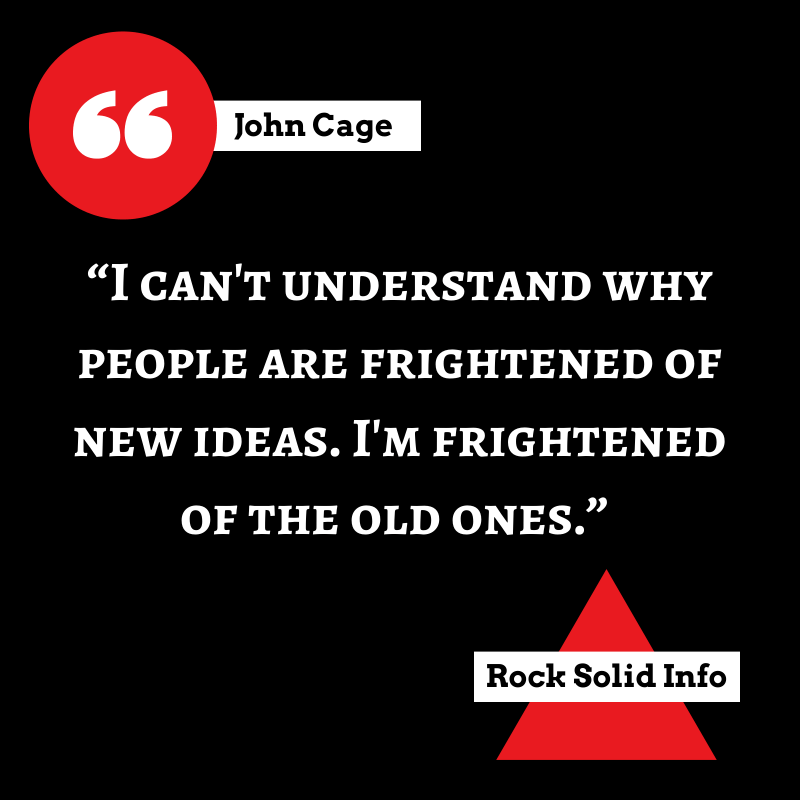 Quote by John Cage